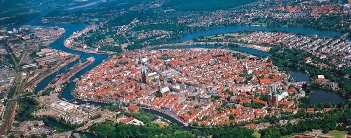 Lübeck aus der Luft
